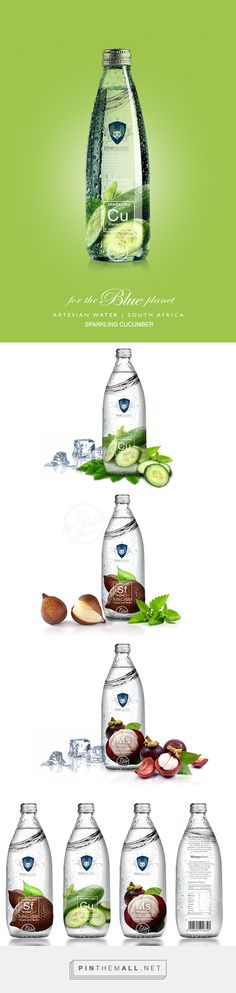 Blue Republic flavored water range by Batsirai Madzonga. Pin curated by #SFields99 #packaging #design