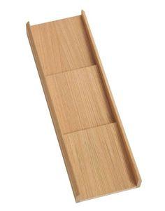 Der Gewürzeinsatz aus massiver Eiche ist modular kombinierbar mit anderen tollen Schubladeneinsätzen von www.stauraum-shop.de