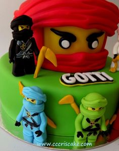 7th Birthday Cakes For Boys, Lego Birthday Party, Boy Birthday, Birthday Parties, Lego Ninjago Cake, Ninjago Party, Lego Cake, 6 Cake, Beautiful Cakes