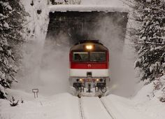 ZSSK 754 005 at Zeleznicna Stanica Harmanec Train Pictures, Train Journey, Bahn, Scenery, World, Winter, Image, Train, Winter Time