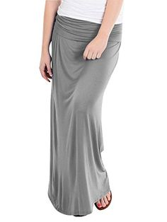 Basics Fold Over Rayon Maxi Skirt >>> To view further for this item, visit the image link.
