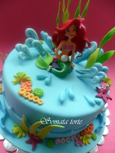 The Little Mermaid cake // Tarta de La Sirenita