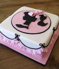 gorgeous silhouette cake