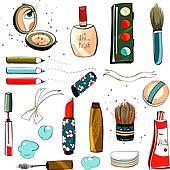 Mascara Clip Art | Clipart of Cartoon Cosmetics Set k16432602 - Search Clip Art ...