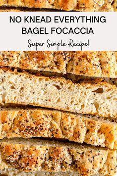 This Everything Bagel No Knead Focaccia Recipe is a delicious twist on the original. Filled with chopped onion and Everything bagel seasoning, it is the perfect accompaniment to any meal and can be made as an overnight focaccia to fit your schedule. This No Knead Focaccia recipe also happens to be vegan, and can be made as a Sourdough discard focaccia, which is a great way to use up any sourdough starter discard that you may have! Dairy Free Recipes, Bread Recipes, Baking Recipes, Kitchen Recipes, Recipe In Grams, Focaccia Recipe, Savoury Baking, Everything Bagel, Instant Yeast