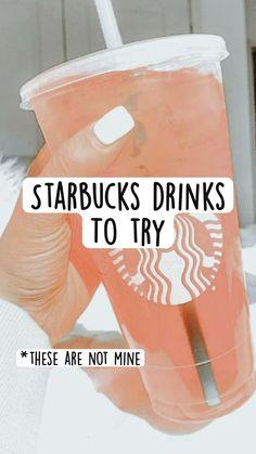 Cold Starbucks Drinks, Starbucks Menu, Healthy Starbucks, How To Order Starbucks, Secret Starbucks Recipes, Coffee Drink Recipes, Fun Baking Recipes, Yummy Drinks, Just In Case