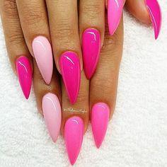 Sexy nails, pink stiletto nails, stelleto nails, neon pink nails, n Fabulous Nails, Gorgeous Nails, Love Nails, Pretty Nails, Pink Stiletto Nails, Matte Nails, Pink Nails, Pink Pedicure, Matte Pink