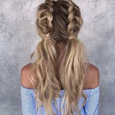 Pigtail braids by Chrissy Rasmussen