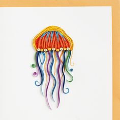 Jellyfish Quilling Card