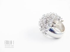 Sterling silver. Handmade jewelry by Emilia I. https://www.facebook.com/emiliai.joyas/