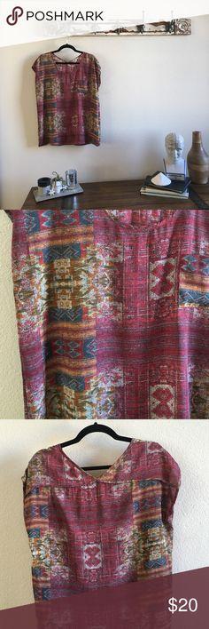 Pleilone V Back Aztec Top 😍 Pleione Tops Blouses