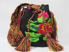 Floral wayuu bag sac a main borsa by PavanaFit on Etsy
