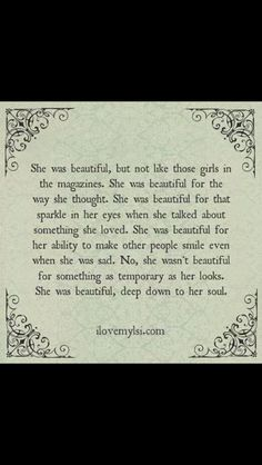 Because she was...