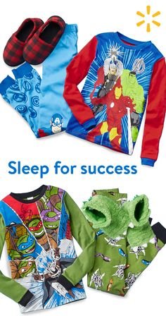 A good school year starts with a good night's sleep. Stock upon pajama sets featuring their favorite characters --Teenage Mutant Ninja Turtles, Spiderman, Batman and more. Shop sleepwear at Walmart.
