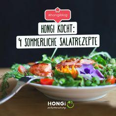 Der perfekte Sommersalat ist gesund, leicht, kühlend und dazu schnell und einfach gemacht. Wir präsentieren dir vier köstliche Rezeptideen!🥗😋  #hongi #faultiermatratze #hongiblog