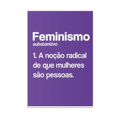 Poster Feminismo (Definição) de Isabela Taccolini sobre tipografia, feminismo, girl power
