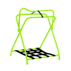 Folding Saddle Rack (Fluorescent Lime) by ABETTA. $38.99. Heavy, enamel coated tubular steel saddle rack with nylon web bottom storage rack.