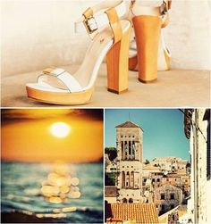 Summer sunsets in Italy. No better place to be this summer with Carlo Pazolini #shoes #sandals #heels #fashion