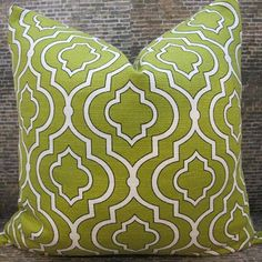 Designer Pillow Cover 20 x 20 - Jali Tex Sprout. $36.00, via Etsy.