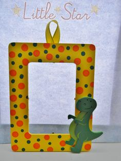 www.facebook.com/creationsbycc1 All it's missing is a picture of your little dinosaur.