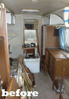 Before & After: Airstream Trailer Renovation by Hofmann Architecture #Airstream #RV #Renovation