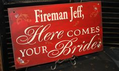 UNCLE Here Comes Your BRIDE Sign/Photo by gingerbreadromantic, $49.95