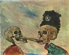 """Ensor [I believe this is called """"Two Skeletons fighting over a salt herring""""]"""