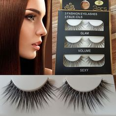 Natural Black Eye Lashes Makeup Handmade Thick Fake Cross False Eyelashes 3Pairs
