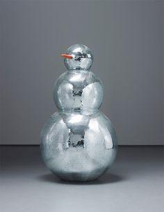 A sparkling snowman minus the snow..