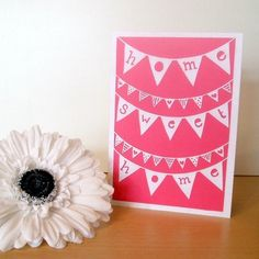 'Home Sweet Home'  Papercut - Printed Greetings Card £2.00 from By Charlie's Hand