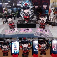 Check the art of this Mexican fan @Jurakan_Rasen with #BABYMETAL #SuMetal #Yuimetal and #Moametal over his desk! Congratulations and thanks for sharing this with us!