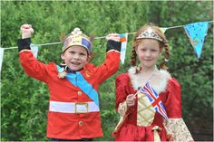 Pupils at St Faith's CofE Infant School in Lincoln celebrate the Diamond Jubilee