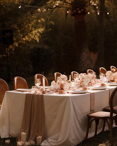 That golden glow on a blush pink tablescape? Yes please. Captured by The Curries