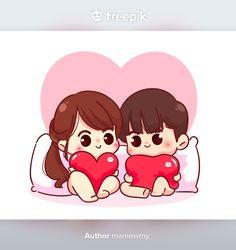 Couple Cartoon Characters, Heart Hand Sign, Character Illustration, Illustration Art, Crafty Angels, Wedding Couple Cartoon, Valentine Cartoon, Scrapbook Titles, Cute Love Cartoons