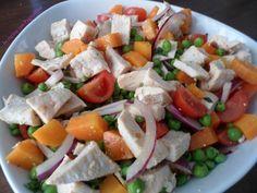 #Insalata di #pollo e #verdure