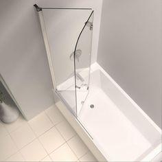 DreamLine EZ-fold 36 in. x 58 in. Frameless Pivot Tub/Shower Door in Chrome-SHDR-3636580-01 at The Home Depot