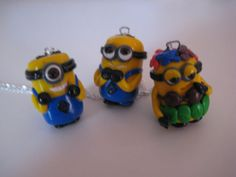 Minion charm polymer clay necklace