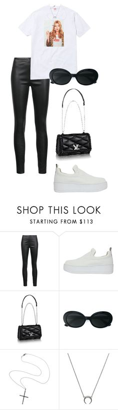 """Sin título #930"" by elipenaserrano ❤ liked on Polyvore featuring Veronica Beard, Windsor Smith, Piel Leather, Yves Saint Laurent and Ileana Makri"