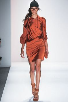 Nicolas K Spring 2013. I'm loving this color in this material. Oh and the white glasses (not shown in pic)