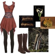 Elven archer by nesahak on Polyvore featuring moda