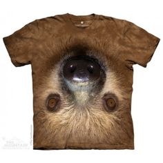 Upside Down Sloth T-Shirt by The Mountain. Big Face Pets Dogs Sizes NEW in Clothing, Shoes & Accessories, Men's Clothing, T-Shirts Zoo Animals, Animals For Kids, Kids Tops, Big Face, Classic T Shirts, Graphic Tees, T Shirts For Women, Cool Stuff, Amor