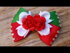 Maratón moño mexicano/moño tricolor No.29 - YouTube Felt Flowers, Diy Flowers, Fabric Flowers, Mexican Hairstyles, Diy Hairstyles, Diy Hair Bows, Diy Bow, Cute Crafts, Felt Crafts