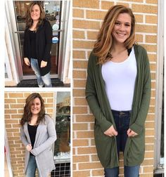 Long Line Hooded Cardigan - Olive – Rebecca's of Clinton