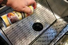 spray the grill pan with PAM