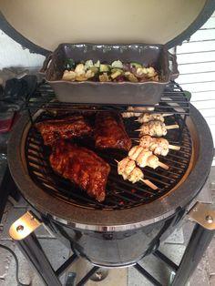Grill Dome ribben kip en groente