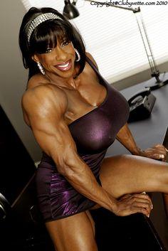 Black muscle builder lesbians