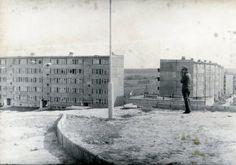 Panorama z Globusa, 1972 r., po prawej stronie bloki przy ul. Faraonów źródło; Lubelska Agora Modernizmu