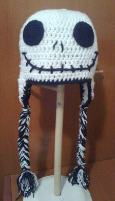 Calavera a crochet en blanco, para ver mas imágenes, visitanos en: http: