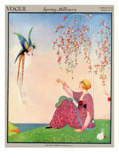 Spring Millinery Vogue Cover ~ March 1914 Poster Print by George Wolfe Plank at the Condé Nast Collection