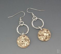 Linda Freedman Katz - Renewal Earrings - Argentium Silver and Bronze with Sterling Silver wires